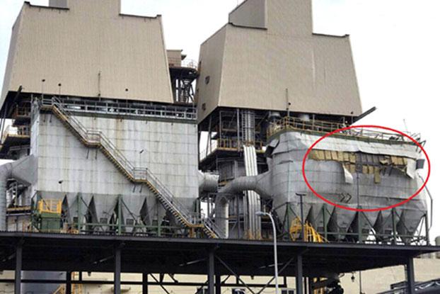 Hiện trường nơi xảy ra vụ nổ ở lò cao số 1 của Công ty Formosa.