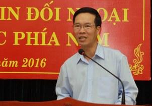 Ông Võ Văn Thưởng, trưởng ban tuyên giáo trung ương, cơ quan phụ trách tuyên truyền của đảng.