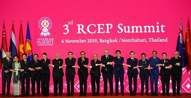 Hội nghị thượng đỉnh RCEP lần thứ 3 tại Thái Lan hôm 4 tháng 11,2019