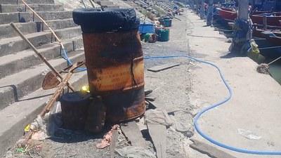Một góc xuống cấp ở cảng cá Tư Hiền