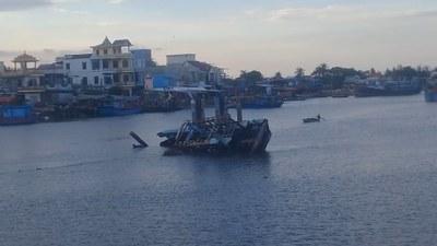 Làng chài ở xã Nghĩa An, Quảng Ngãi năm 2019.