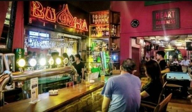 Quán bar Buddha (phường Thảo Điền, quận 2, TP Hồ Chí Minh), nơi có 8 ca nhiễm Covid-19.