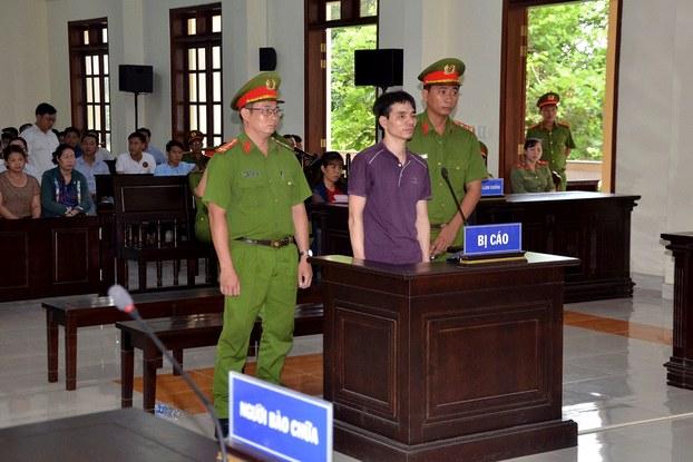 Kỹ sư Nguyễn Ngọc Ánh tại phiên tòa ở tỉnh Bến Tre hôm 06/06/19.