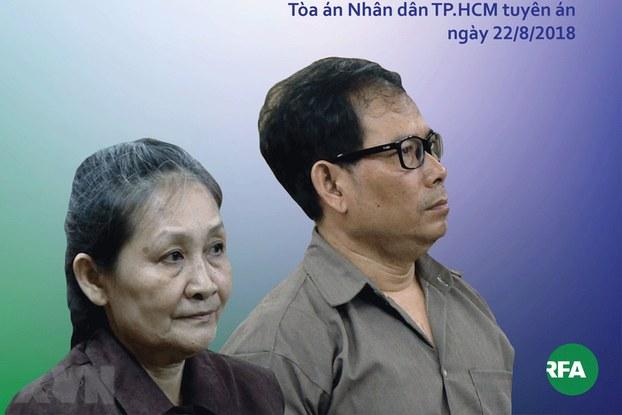 Bà Phan Angel (bên trái) và ông Nguyen James Han