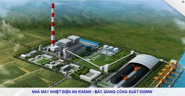 Phối cảnh dự án Công ty Cổ phần Nhiệt điện An Khánh – Bắc Giang.