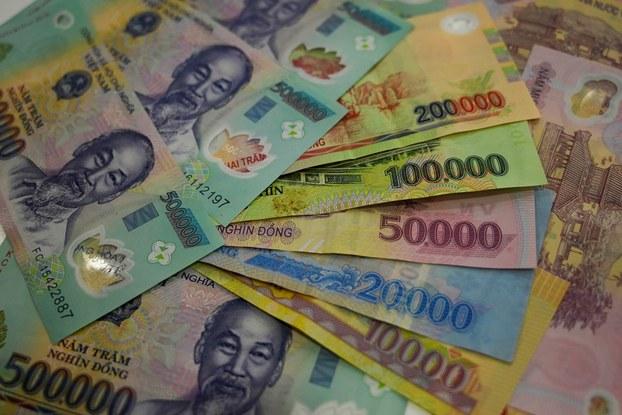 Các loại mệnh giá đồng tiền Việt Nam. (ảnh minh họa)