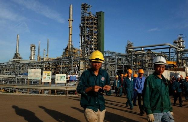 Hình minh hoạ. Nhà máy lọc dầu Dung Quất (Quảng Ngãi)