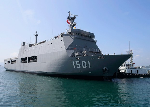 Tàu UMS Moattama 1501 chuẩn bị cập cảng Quốc tế Cam Ranh hôm 12/11/2019
