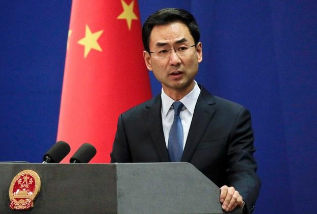 Hình minh họa. Phát ngôn viên Bộ Ngoại giao Trung Quốc Cảnh Sảng ở Bắc Kinh hôm 29/1/2019.