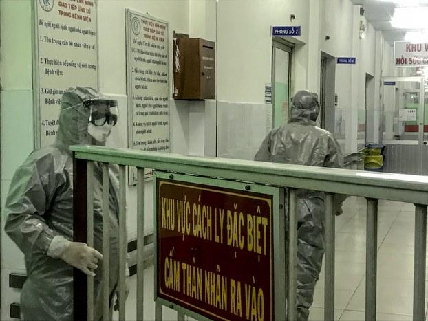 Hình minh hoạ. Khu cách ly bệnh viện Chợ Rẫy, TP. Hồ Chí Minh, nơi điều trị các bệnh nhân nhiễm COVID-19 hôm 23/1/2020
