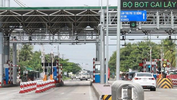 Trạm thu phí BOT Cai Lậy ở tỉnh Tiền Giang.