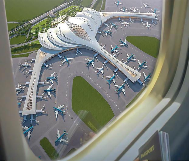 Phối cảnh cảng hàng không quốc tế Long Thành.