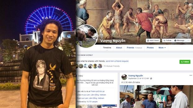 Anh Nguyễn Đức Quốc Vượng và Facebook cá nhân có tên Vượng Nguyễn