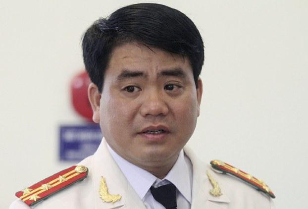 Hình minh hoạ. Ông Nguyễn Đức Chung khi còn làm Giám đốc Công an Hà Nội năm 2013