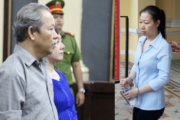 Ông Lê Quốc Cường (trái) và bà Lê Thị Minh Hiền lần lượt bị án tù 7 năm và 14 năm