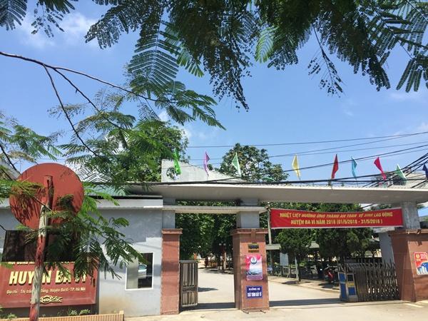 Trụ sở UBND huyện Ba Vì.