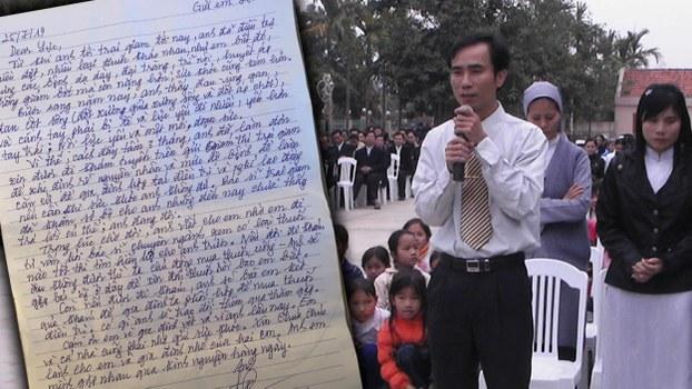 Ảnh tù chính trị Hồ Đức Hòa và lá thư mới nhất gửi gia đình