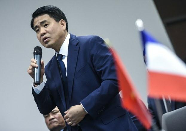 Ông Nguyễn Đức Chung trong một chuyến công tác đến Pháp với cương vị Chủ tịch UBND TP Hà Nội (hình minh hoạ)