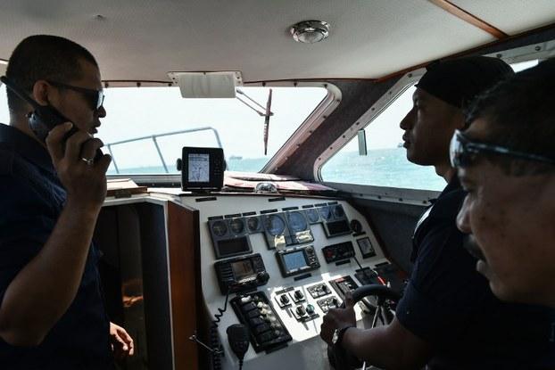 Ảnh minh họa: Thành viên của Cơ quan Thực thi Hàng hải Malaysia. Ảnh chụp ngày 24/08/17.