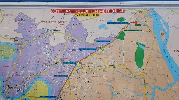 Tuyến metro số 1 Bến Thành – Suối Tiên.