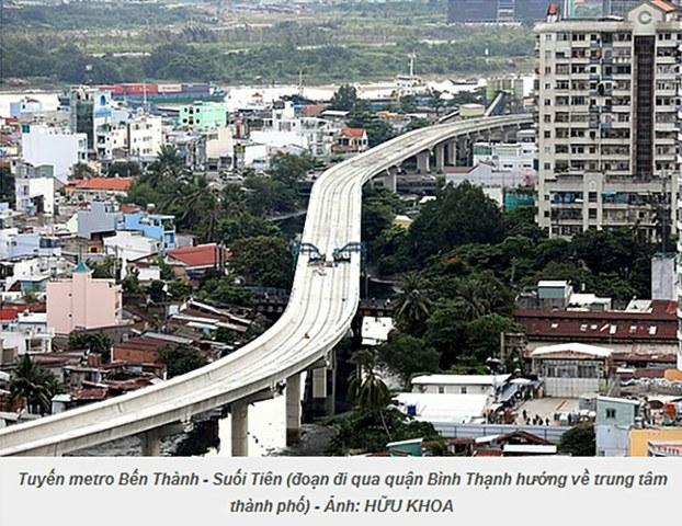 Dự án metro Bến Thành-Suối Tiên đang bị chậm tiến độ xây dựng và giải ngân.