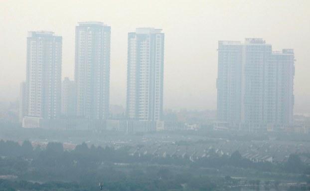 Hình minh hoạ. Ô nhiễm không khí ở Hà Nội hôm 2/10/2019