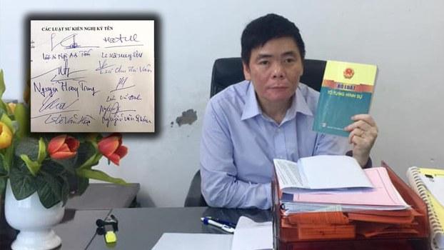 Hình minh họa. Luật sư Trần Vũ Hải tại văn phòng ở Hà Nội