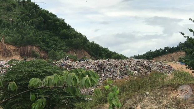 Bãi rác Khánh Sơn ở quận Liên Chiểu, Đà Nẵng. Ảnh minh họa chụp trước đây.