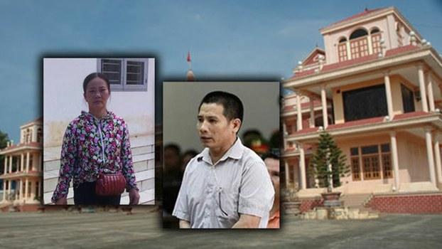 Hình minh họa. Tù nhân lương tâm Nguyễn Trung Tôn (phải) và vợ là bà Nguyễn Thị Lành