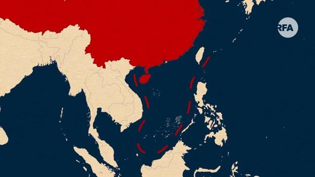 Trung Quốc đòi chủ quyền đến 90% diện tích Biển Đông bằng đường đứt khúc chín đoạn hay còn gọi là 'đường lưỡi bò' mà nước này đơn phương vẽ ra.