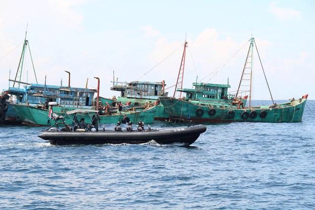 Hình minh họa. Indonesia chuẩn bị đánh chìm những tàu cá Việt Nam ở đảo Datuk hôm 4/5/2019