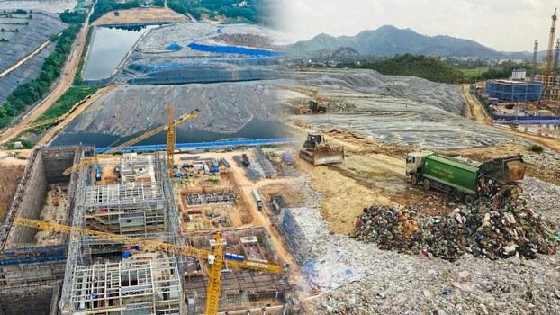 Khu liên hợp xử lý chất thải Nam Sơn.