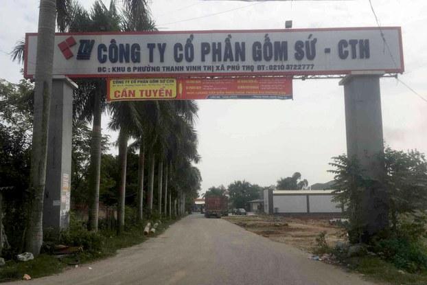 Công ty Cổ phần Gốm sứ Thanh Hà ở Phú Thọ