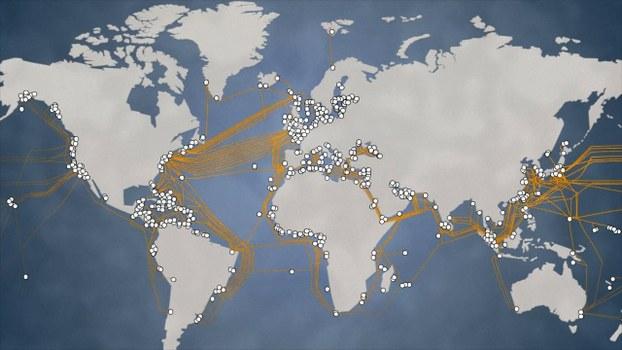Hệ thống tuyến cáp quang trên thế giới. (Ảnh minh họa)