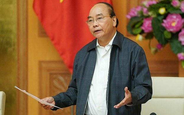 Thủ tướng Nguyễn Xuân Phúc tại cuộc họp Thường trực Chính phủ để nghe báo cáo tình hình dịch Covid-19 và đưa ra các quyết sách phòng, chống dịch, hôm 27/2.