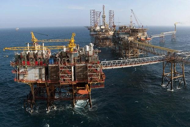 Hình minh họa. Giàn khoan dầu khí ngoài khơi của PVN