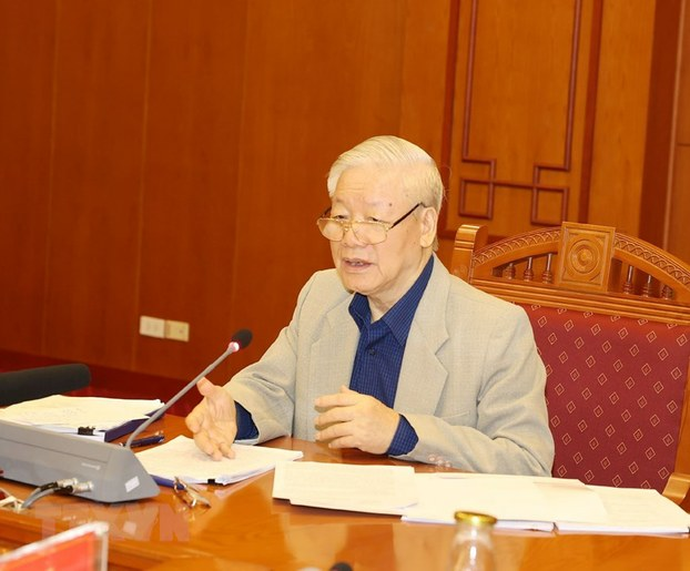 Hình minh hoạ. Tổng bí thư Nguyễn Phú Trọng tại cuộc họp của Ban Chỉ đạo Trung ương về phòng chống tham nhũng ở Hà Nội vào sáng ngày 25/11/2020