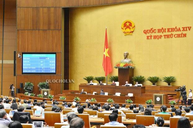 Hình minh hoạ. Quốc hội Việt Nam bỏ phiếu thông qua nghị quyết phê chuẩn hai hiệp định với EU hôm 8/6/2020