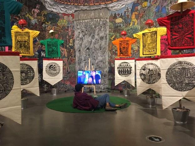 Hình minh hoạ. Một góc triển lãm Polyphony: Southeast Asia tại Bảo tàng Nghệ thuật thuộc trường đại học Nghệ thuật Nam Kinh.