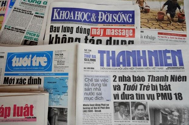 Hình minh họa. Các tờ báo của Việt Nam