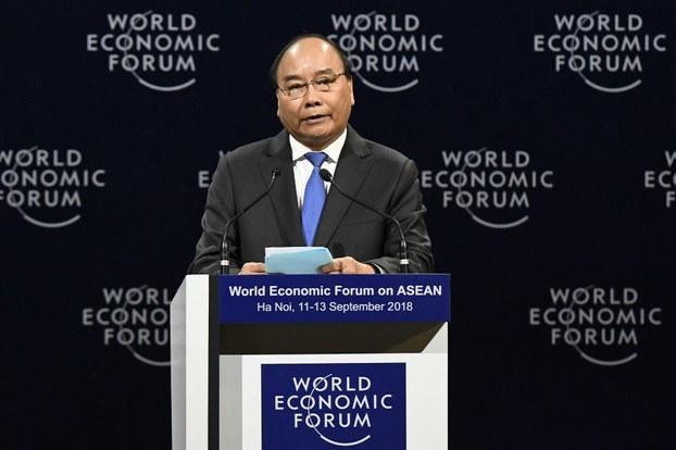 Thủ Tướng Việt Nam Ông Nguyễn Xuân Phúc phát biểu tại Diễn đàn Kinh tế Thế giới 2018. (Ảnh minh họa)